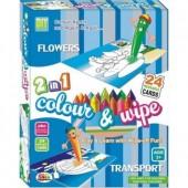 Ekta 2-in-1 Colour & Wipe (Flowers & Transport)