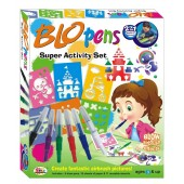 Ekta Blo Pens Super Activity Set  (2in1 Marker & Airbrush!)