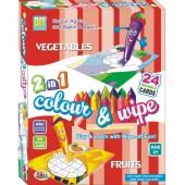 Ekta 2-in-1 Colour & Wipe (Vegetables & Fruits)