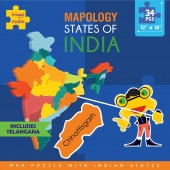 Imagi Make Mapology  States of India Map Puzzle