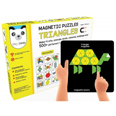 Play Panda Magnetic Puzzles Triangles