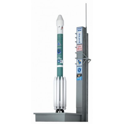 "Dragon Delta II Rocket ""Shark's Mouth "" W/ Launch Pad"