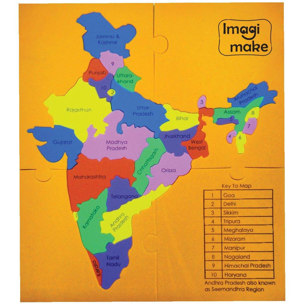 . imagi make mapology states of india map puzzle