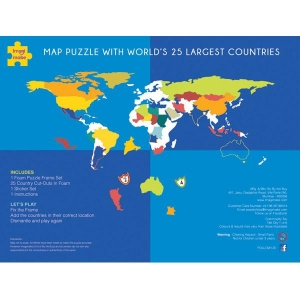 Imagi Make Mapology  Worlds Largest Countries Foam Map Puzzle