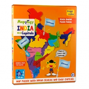 Imagi Make Mapology  India with Captials
