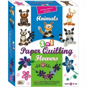 EKTA 2 IN 1 PAPER QUILLING ( Animals & Flowers)