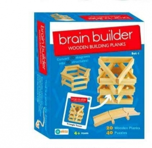 Ekta Brain Builder Wooden Building Planks Set-1